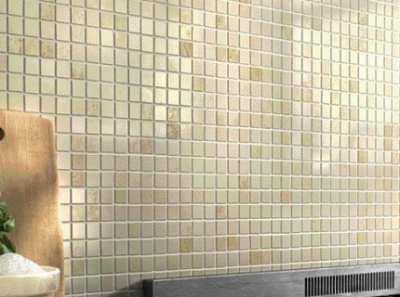Плитка-мозаика на сетке – применение и укладка